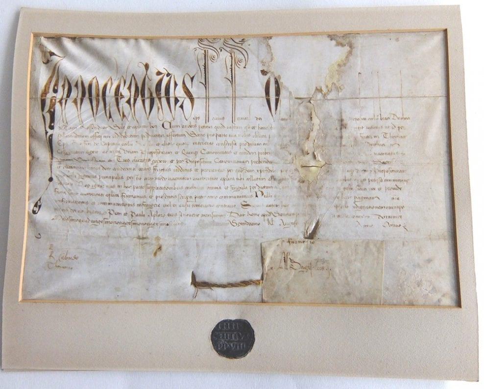 Tain Papal Bull – 1492