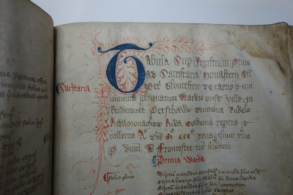 Conservation of a C14th Gloucester Cathedral Cartulary