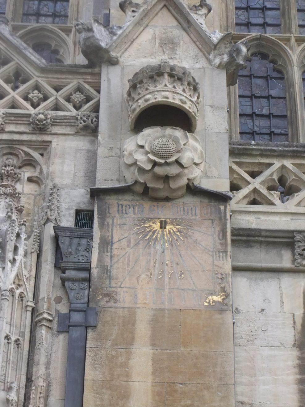 King's College Chapel Cambridge: South Porch Sundial