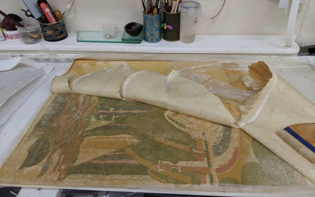 The Conservation Treatment of 6 Clive Gardiner Original Poster Art Works for Goldsmiths University Library