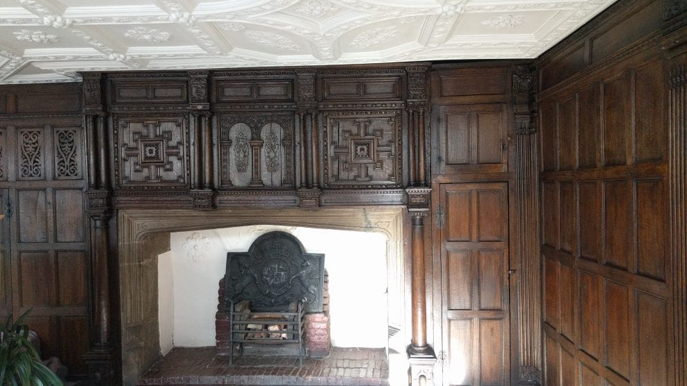 17th century oak panelling, in main first floor public room at Bessie Surtees House (north-east regional headquarters) for Historic England, Newcastle-upon-Tyne