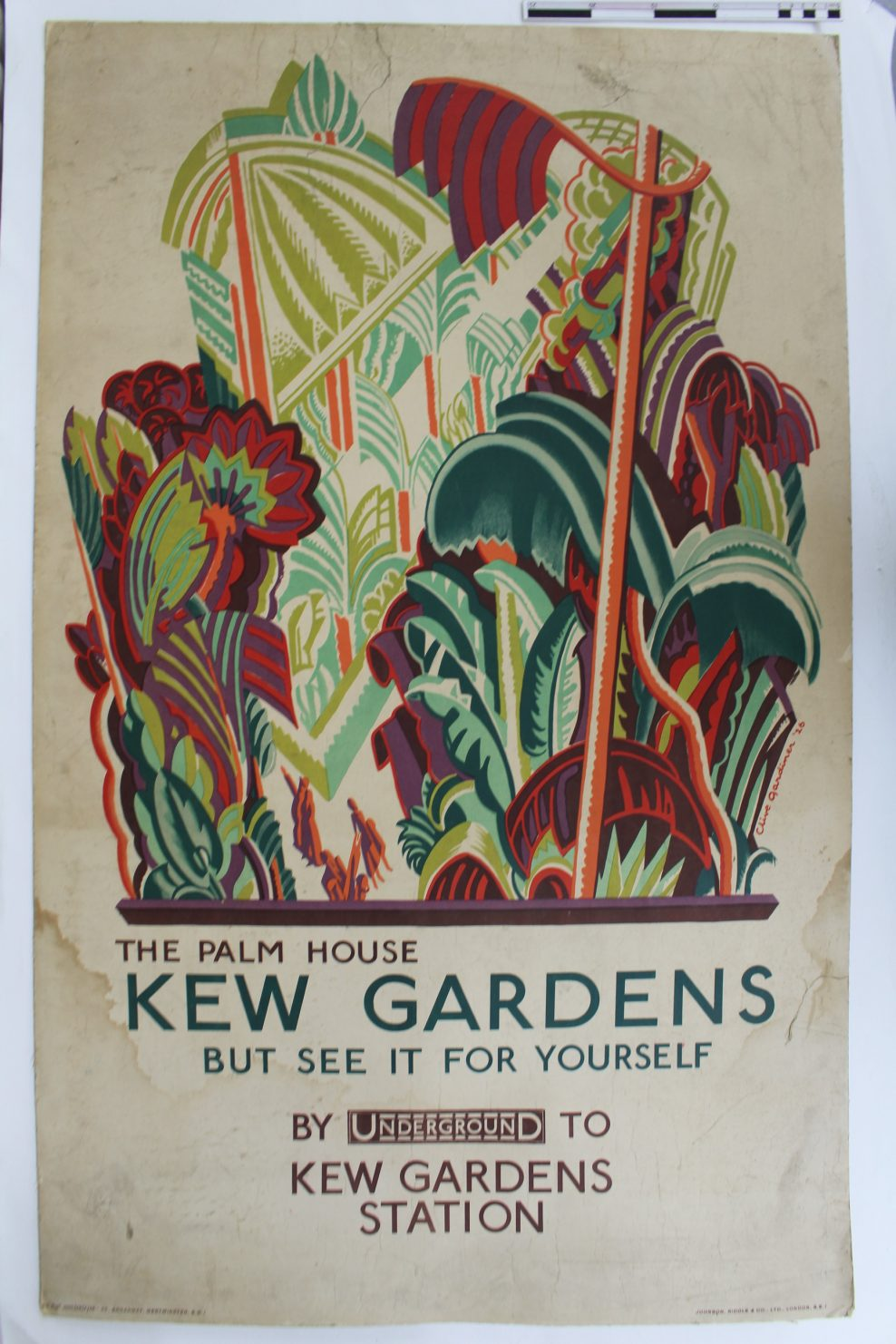 Gardiner Poster - Kew Gards Before Treatment