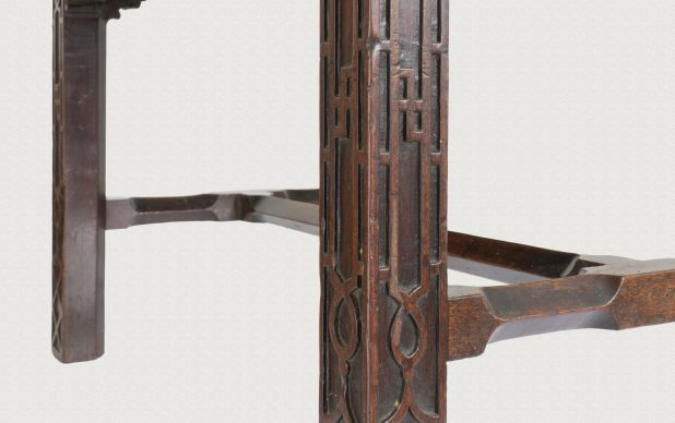 Pair of highly original, distinctive and finely detailed window seats, c.1755.