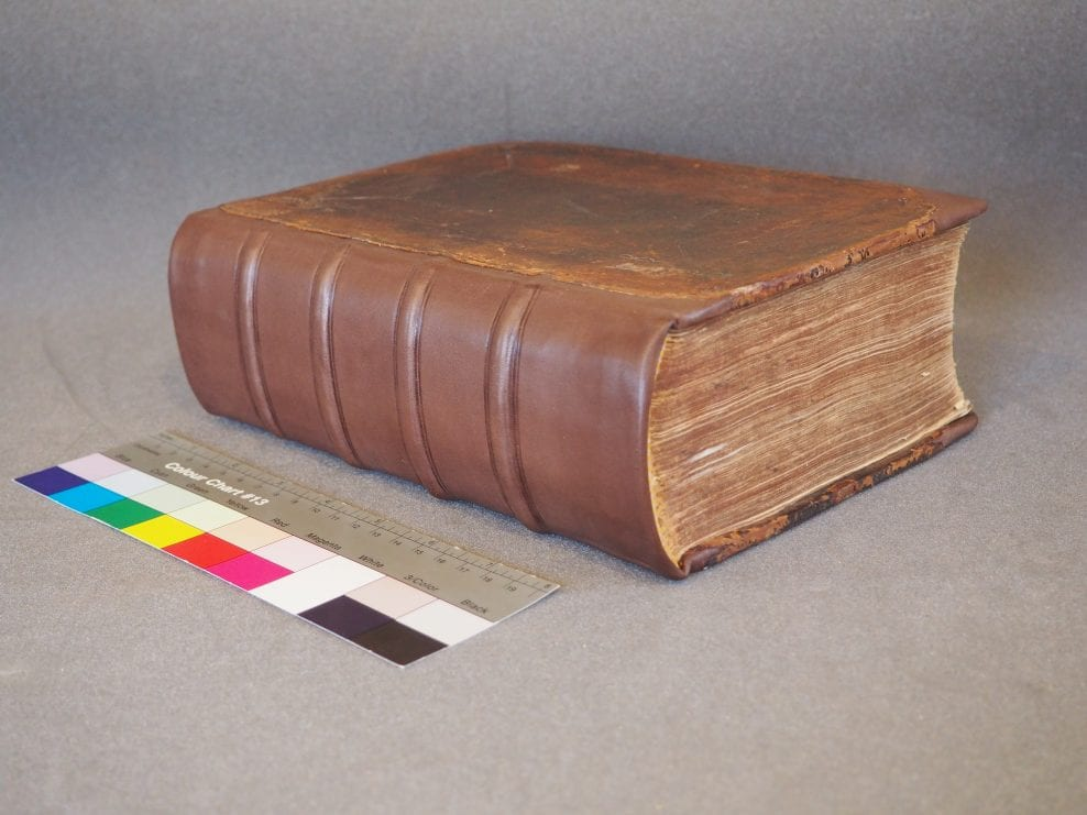 Pickering Donation Book after conservation