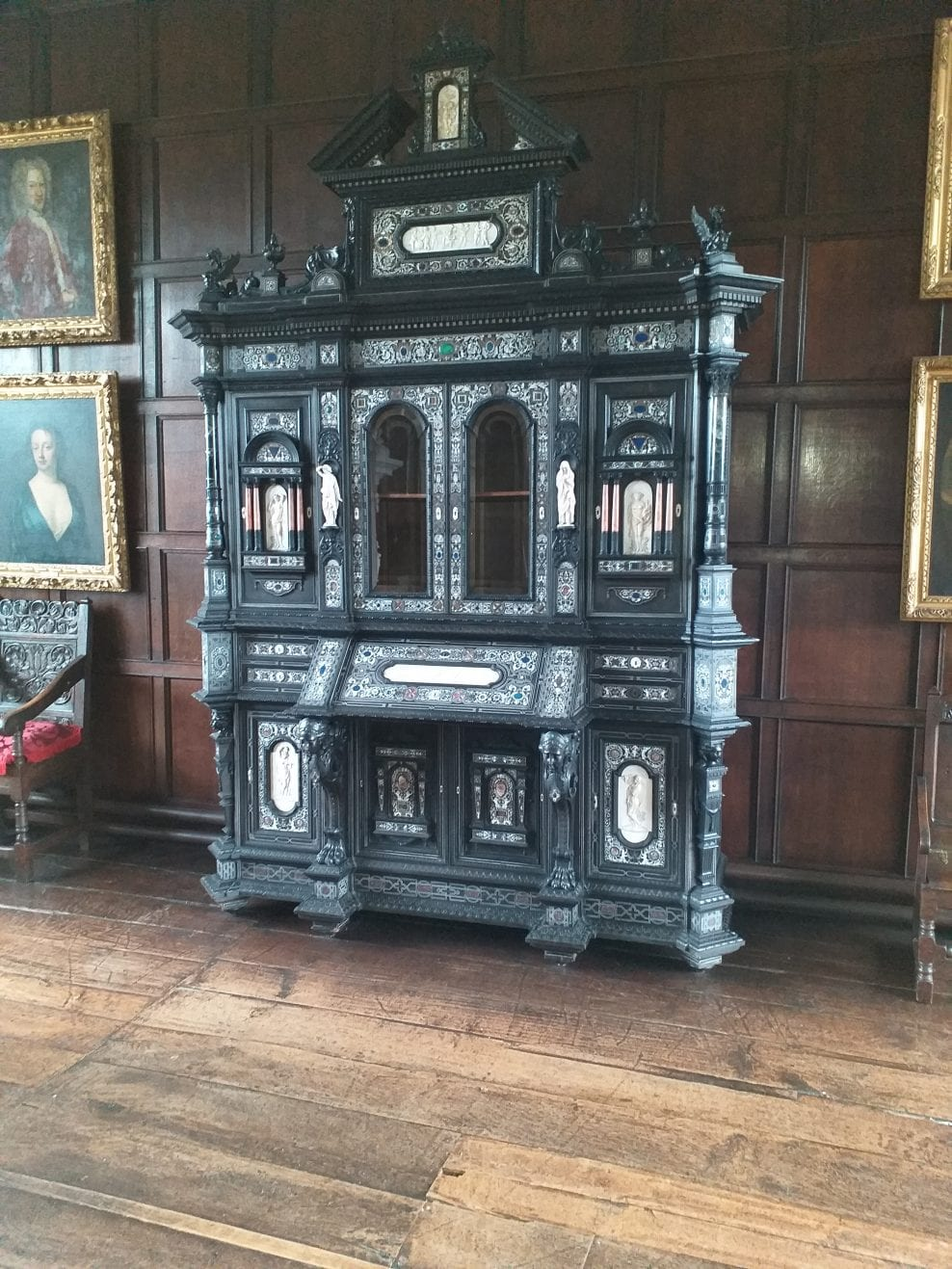 17th Century Italian Ebonised Cabinet: Clean, repair and stabilise