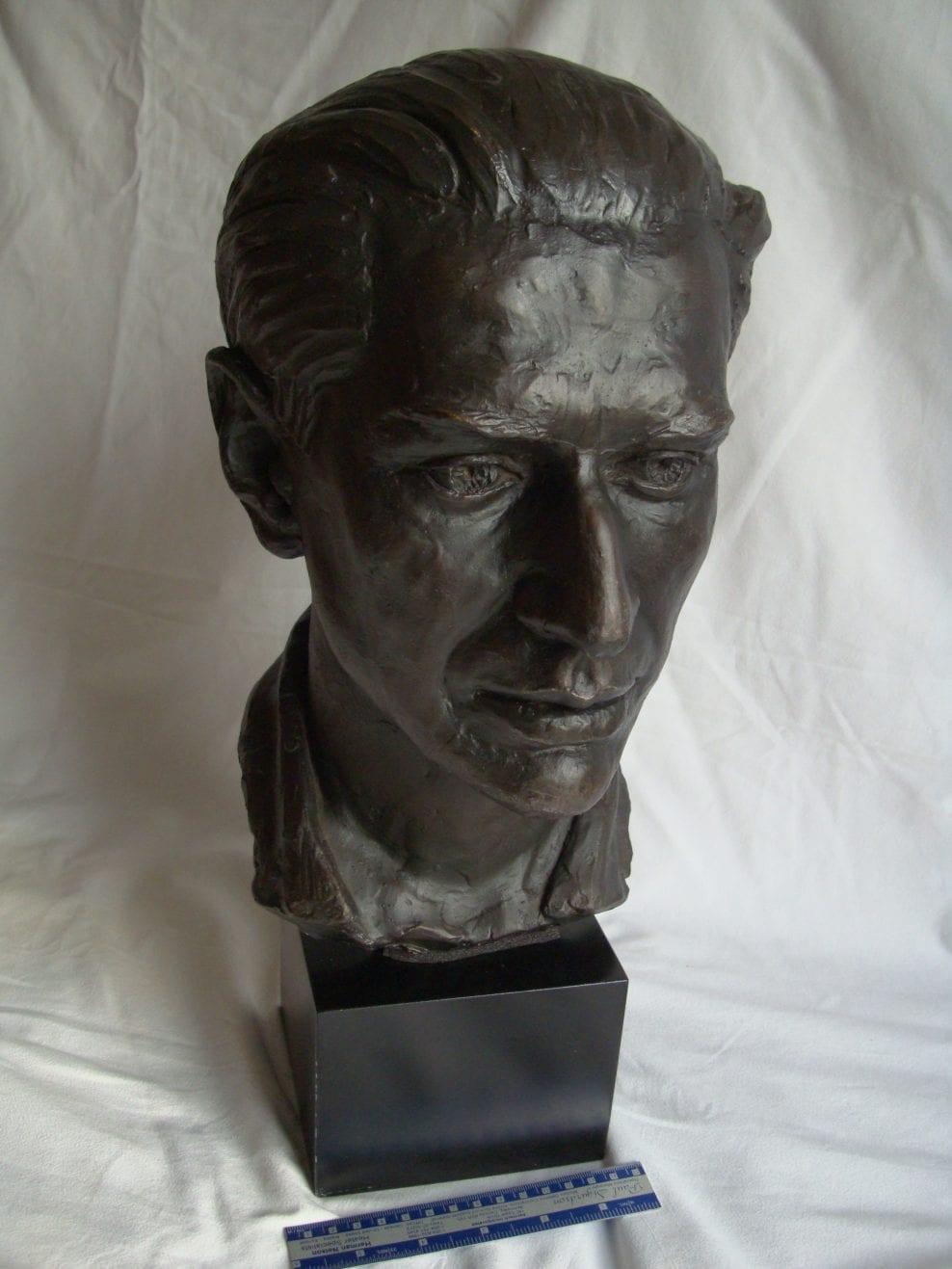 Shattered plaster bust