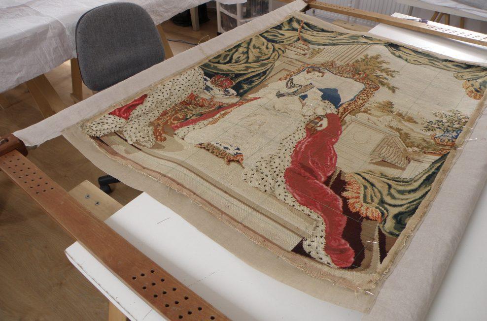 """""""Queen Victoria""""needlework picture"""