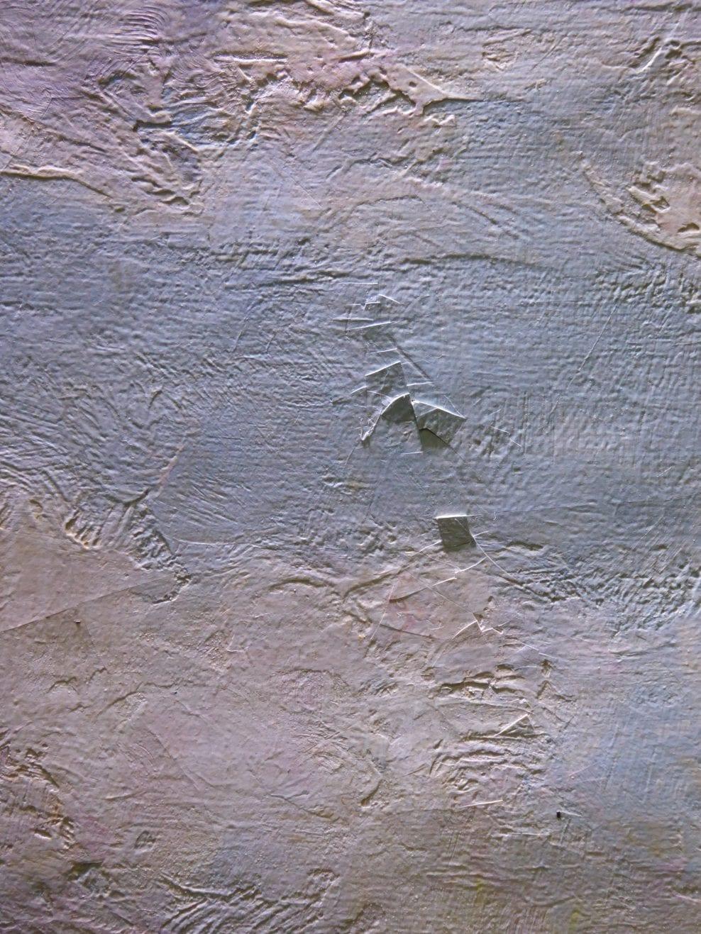 Detail, raking light, flaking