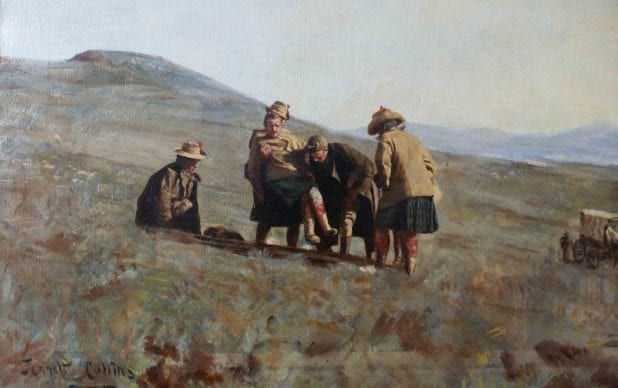 Conservation/restoration of the oil painting 'Harry Kebel Smith in Boer War' by Jennett Collins