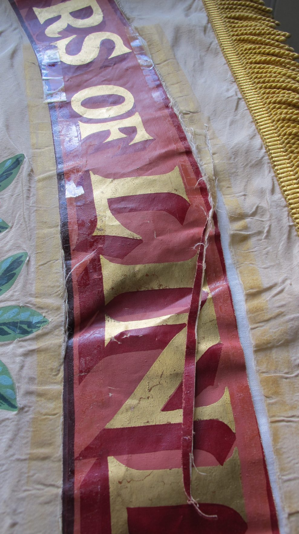 Dyers banner: conservation and mounting for display in a refurbished museum