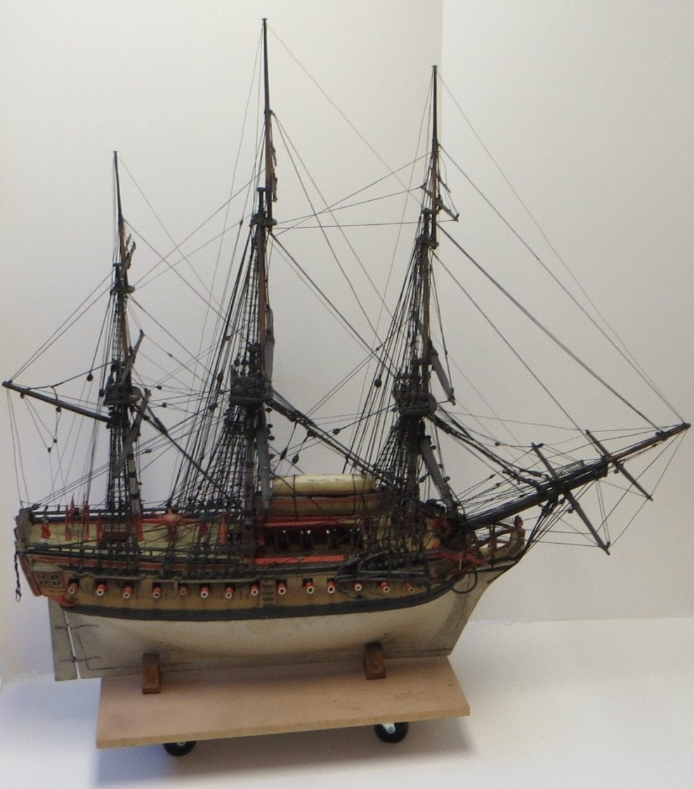Conservation of ship model, private owner