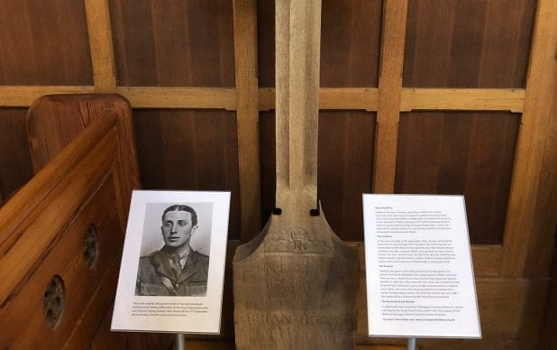 Conservation and mounting of WWI memorial cross, St. Margaret's Church, Cliffe