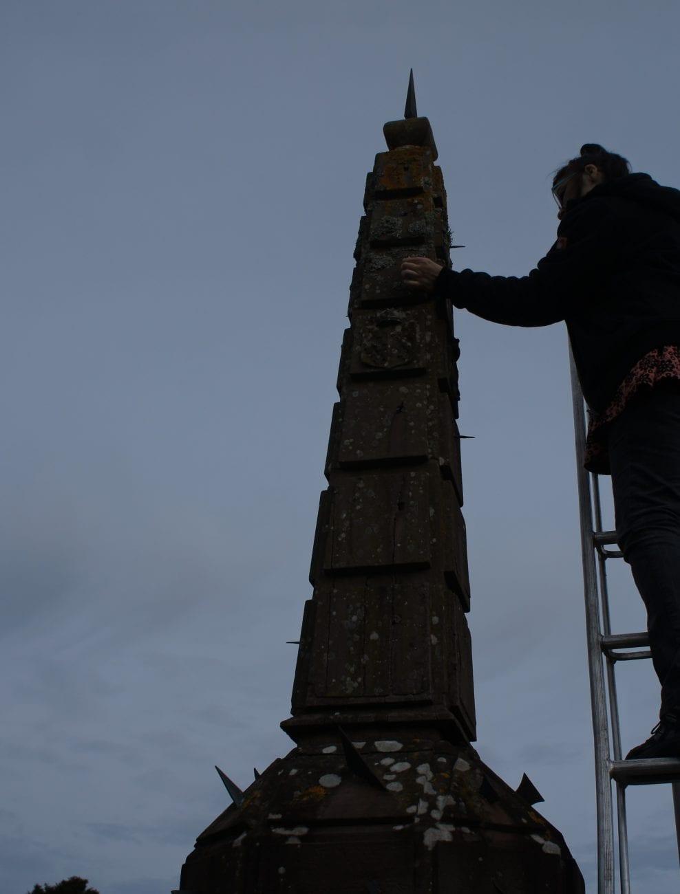 Survey of Drummond Castle Obelisk Sundial 2016