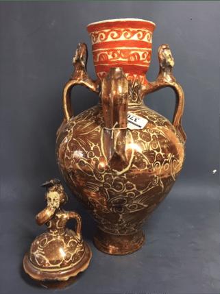 Spanish Lustreware vase