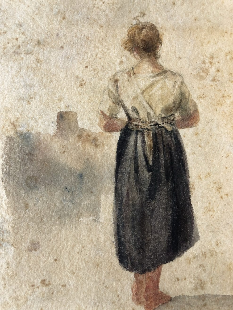 Watercolours. 18th – 20th Century. Examples of light and framing damage. Preventative and practical conservation