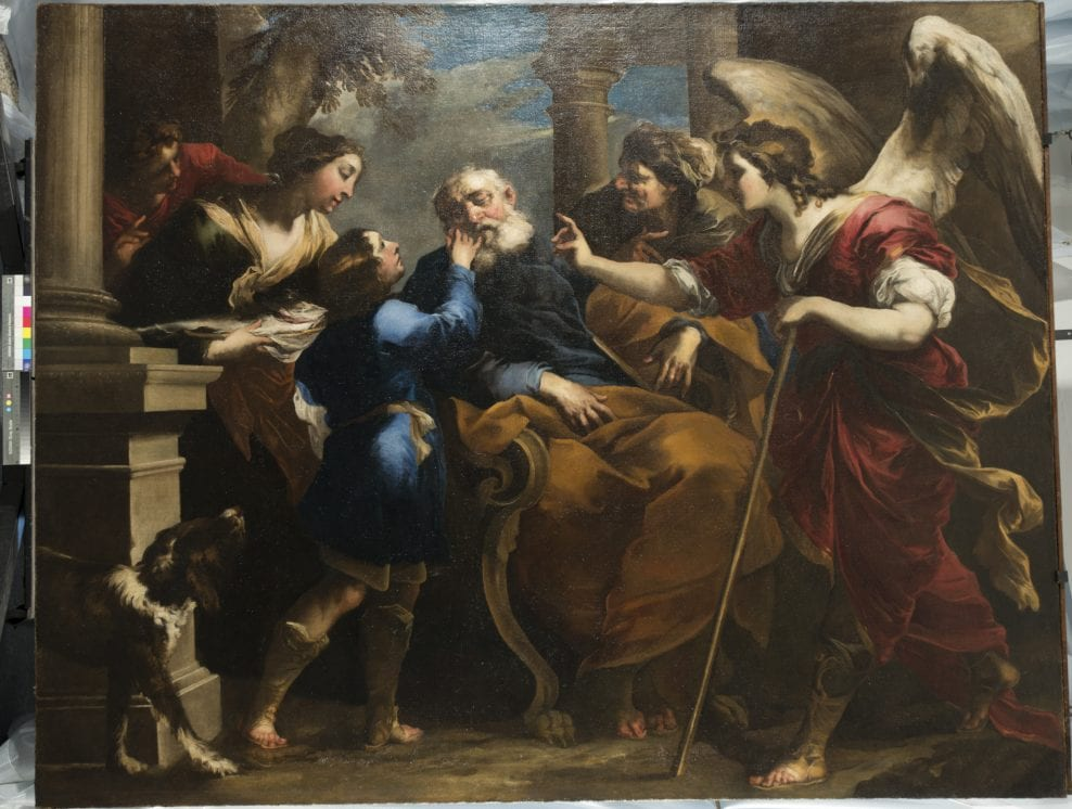 'Tobias Healing the Blind Tobit' by Valerio Castello (1650) from the Ferens Art Gallery, Hull. Oil on canvas. Conserved and restored with Art Fund support in 2017