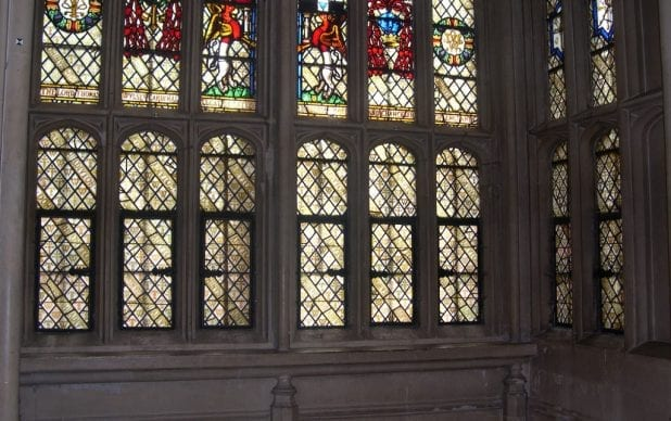 Great Hall, Oriel Window. Hampton Court Palace.