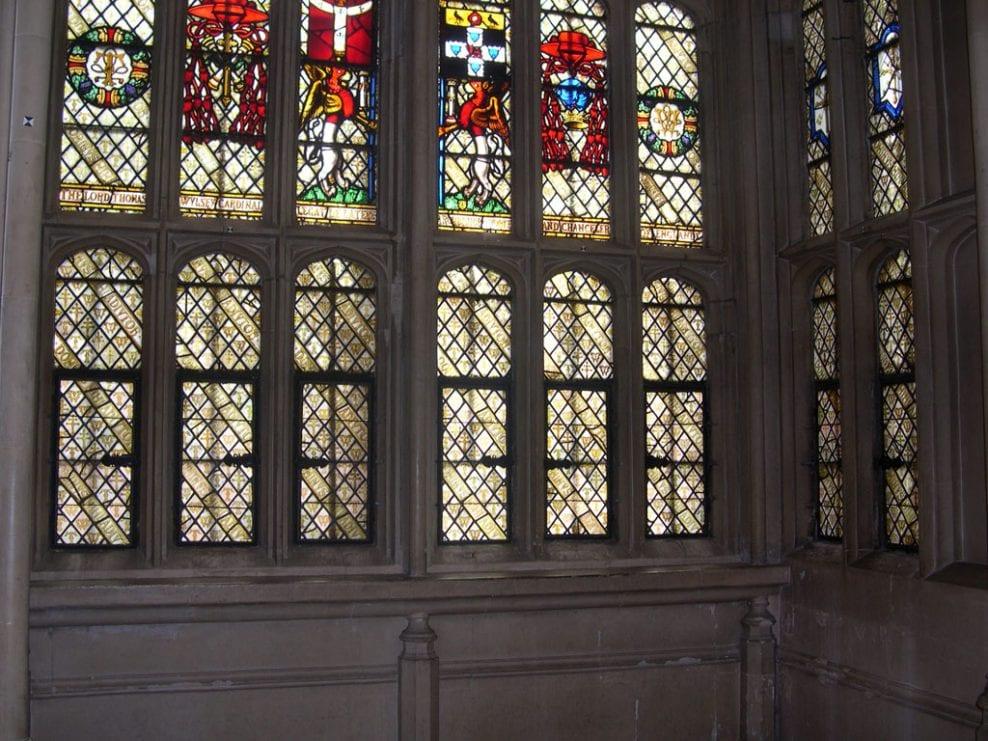 Great Hall, Oriel Window. Hampton Court Palace.