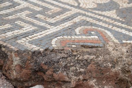 Leicester mosaic in situ