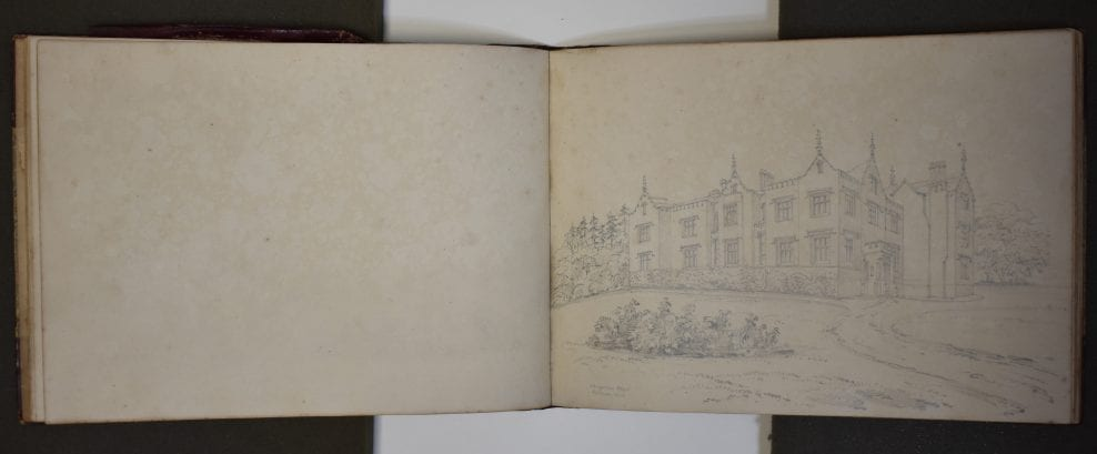 Conservation of the Charlotte Smith Sketchbook, Tring Local History Museum
