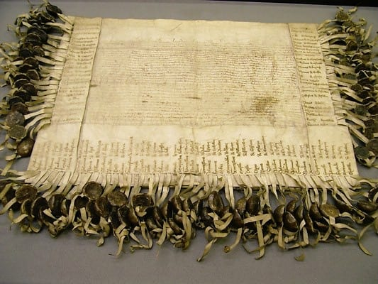 Conservation and rehousing of an important medieval document