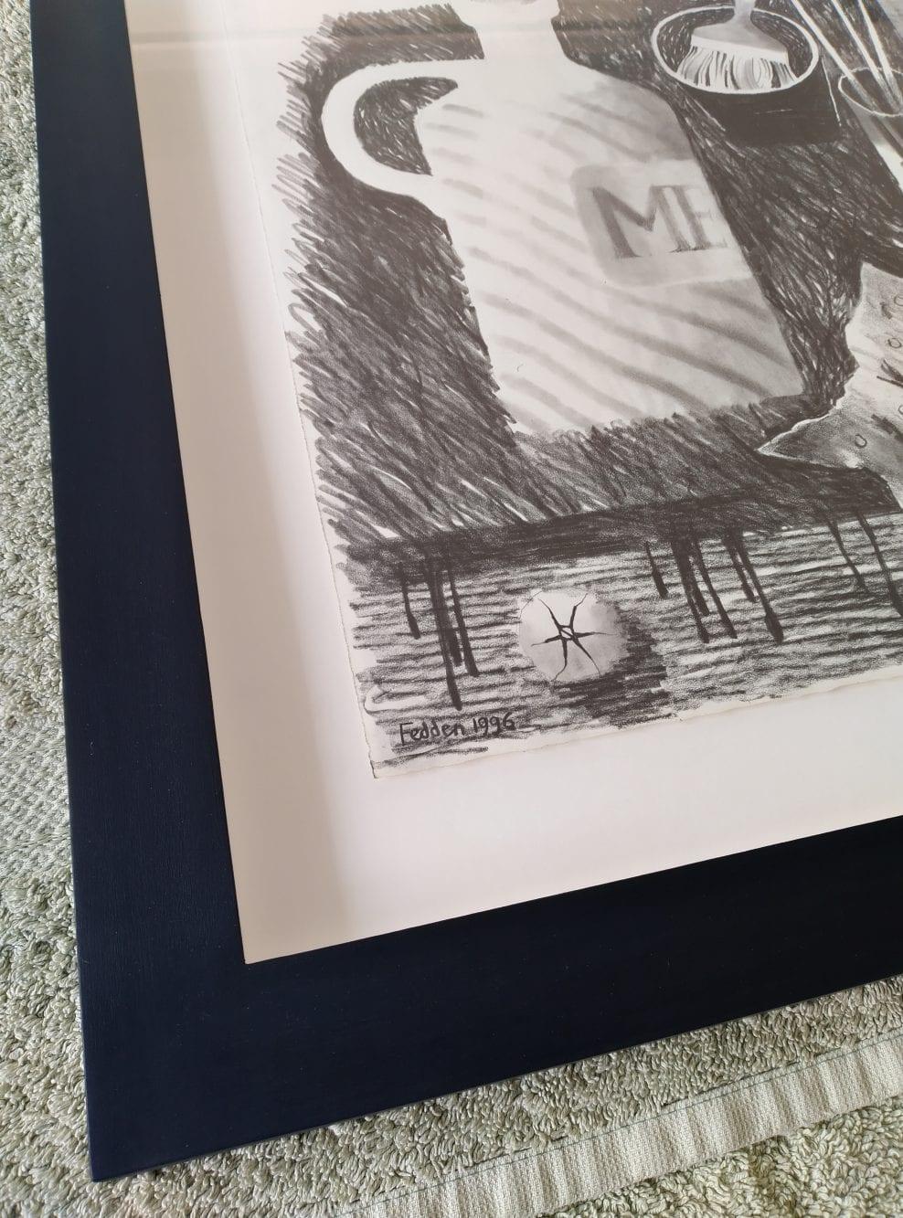 Mary Fedden pencil drawing and a Frank Brangwyn ink sketch