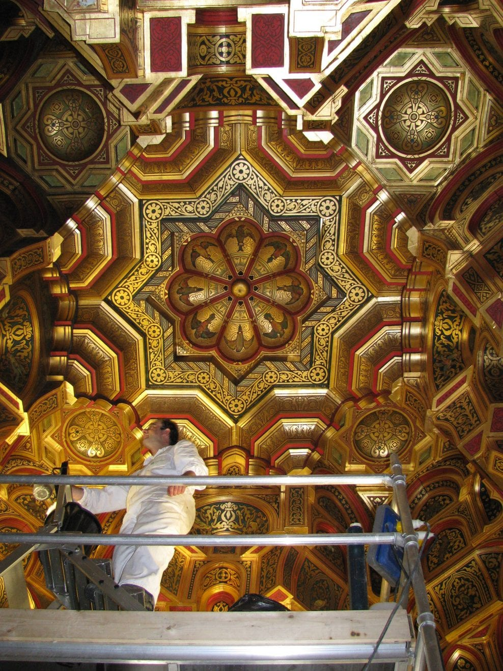 Conservation of the historic interiors by William Burges in Cardiff Castle