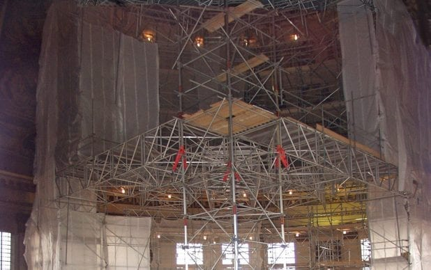 Conservation of the 18th-century scheme of wall paintings by Sir James Thornhill in the dome of St Paul's Cathedral