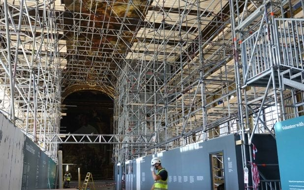 Old Royal Naval College, Greenwich: conservation of the 18th-century scheme of wall paintings by Sir James Thornhill in the Painted Hall