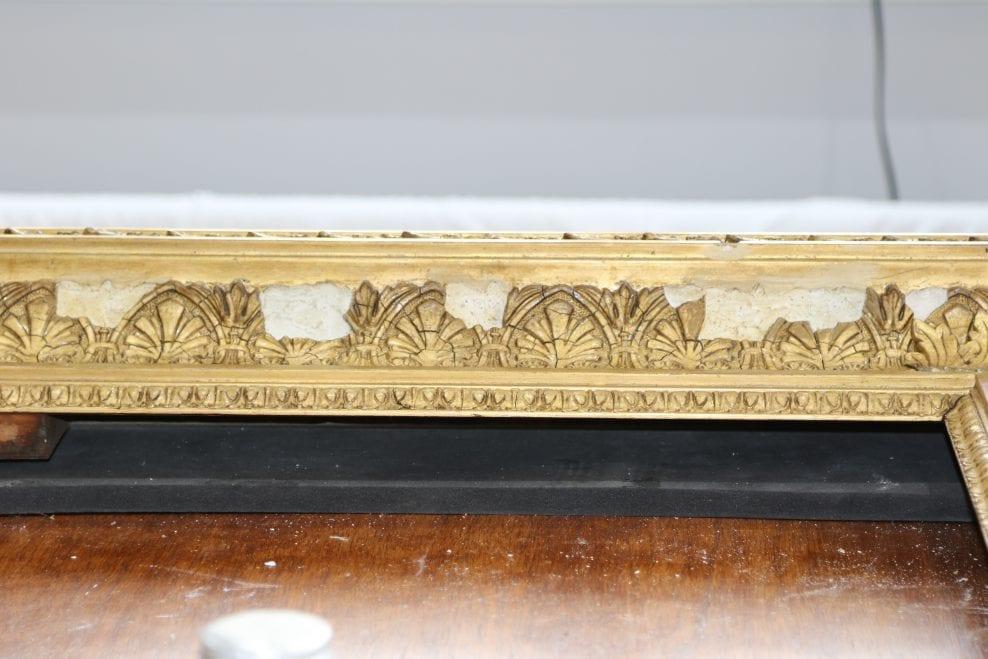 Frame conservation for 'The Old Steps at Margate' by C.F. Sorensen