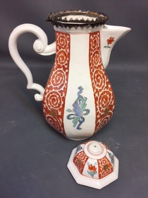Meissen Coffee Pot & Cover Kakiemon style decoration