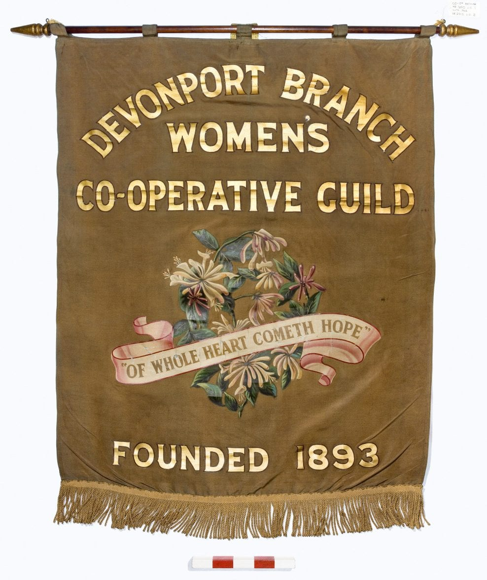 An example of a painted silk banner assessed during the project