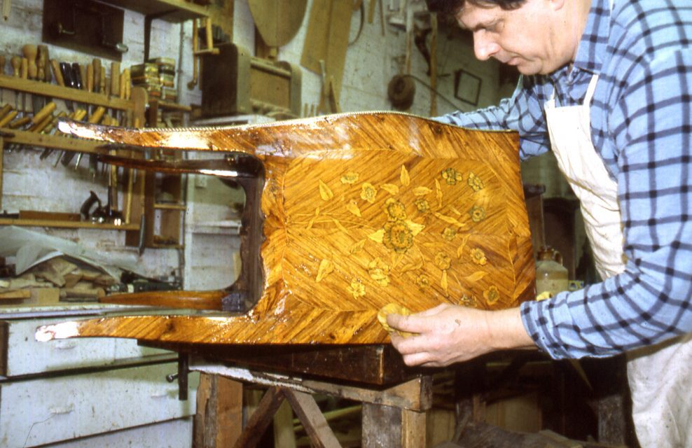 Restoration of small French Marquetry Commode