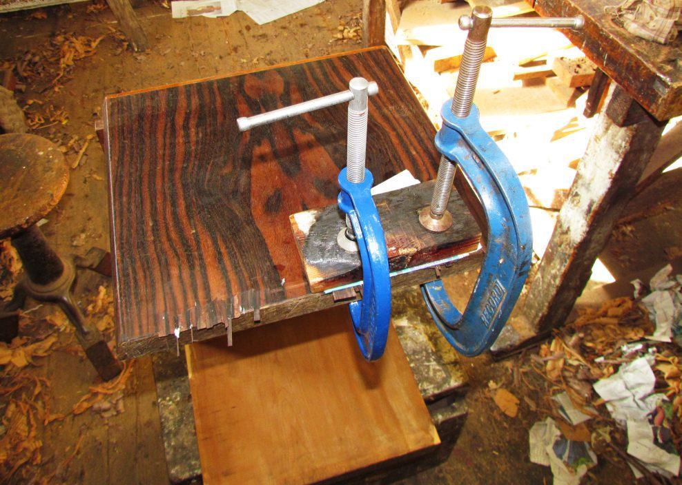 Conservation of a nest of tables by Emile Galle,