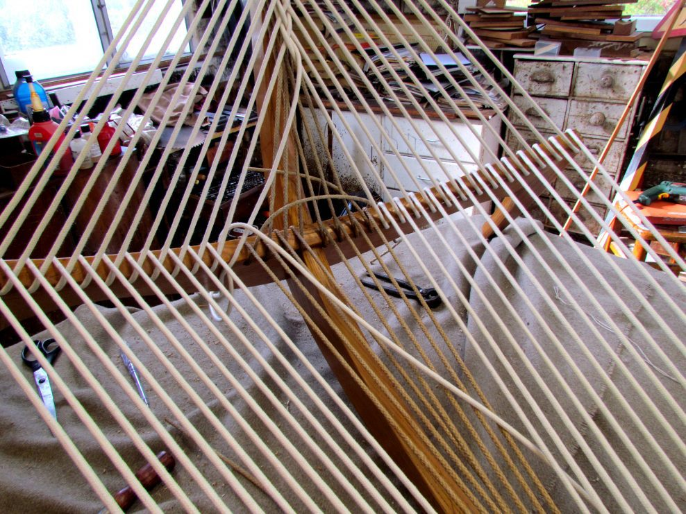 """Conservation of a Danish """"Harp"""" Chair by Jorgen Hovelskov"""
