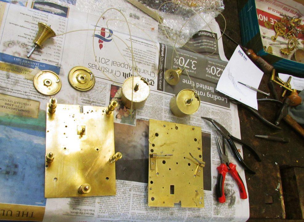 Conservation of a Daniel Quare Bracket Clock.