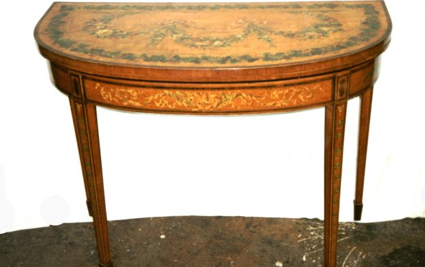 Conservation of a Late 18th century Card Table