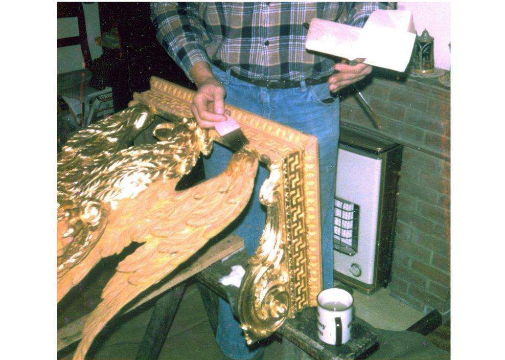 Re-gilding of a Regency Consul Table